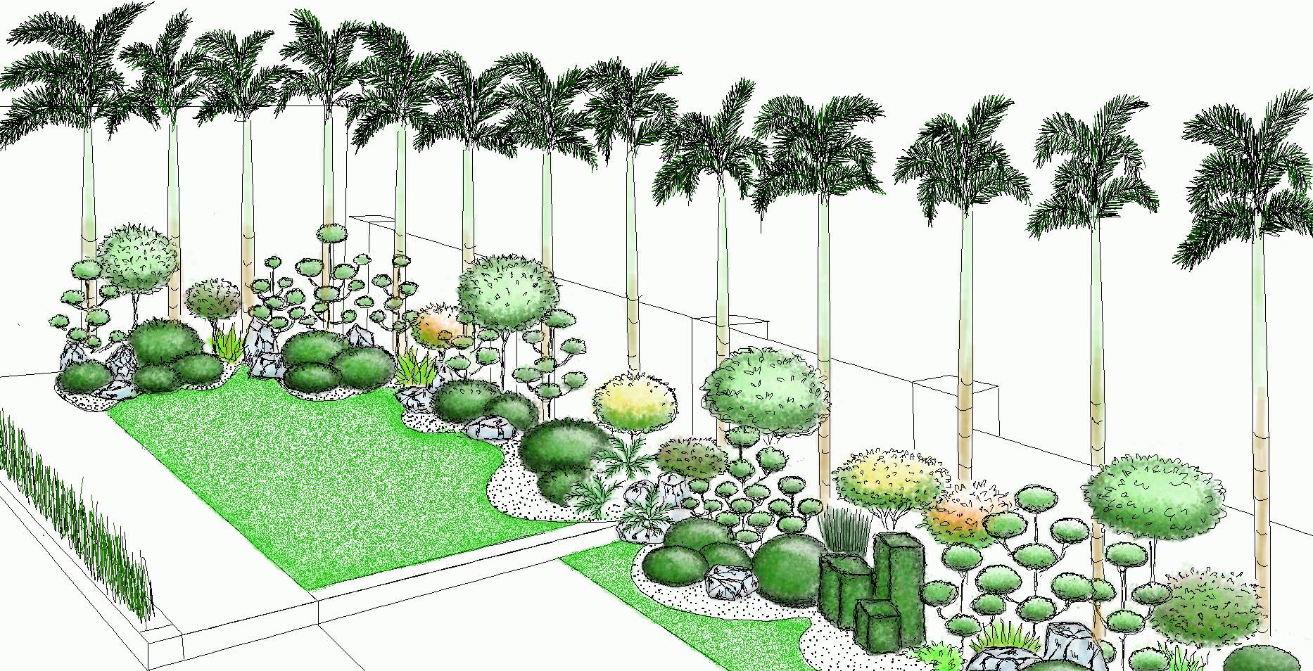 Garden landscape design philippines green world builders for Plant garden design